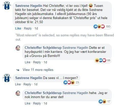 Fiskebutikken ga umiddelbart etter for kritikken, og lanserte fiskekaken til prisen komikeren forlangte. Foto: Skjermdump Facebook.com