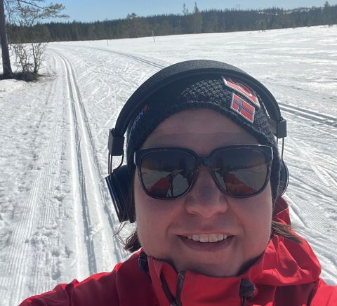 Gry Haugsbakken, på ski.