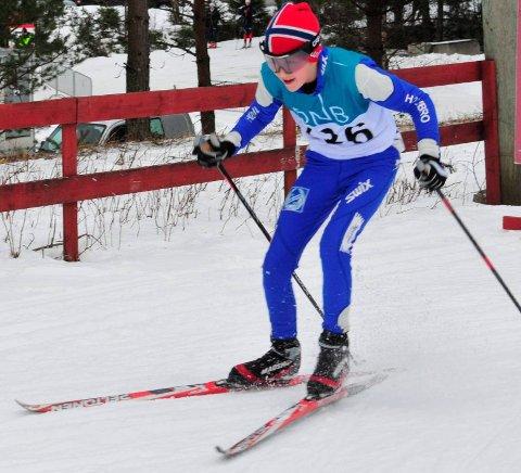 Går fort på langrennsski: SHIULs Hans Kristian Holmbro er i knallform for tida.foto: jon wiik