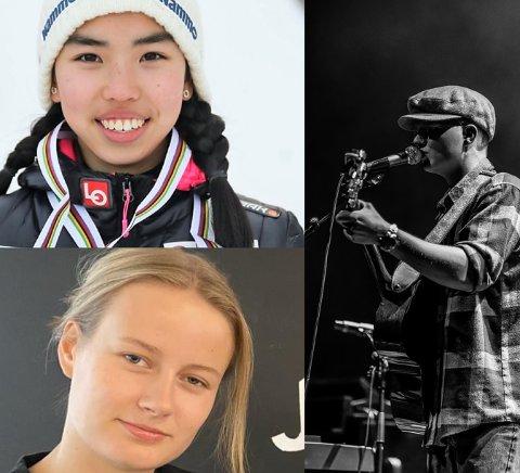 STIPEND: Thea Minyan Bjørseth (øverst), Lisa Dyrud (nederst) og Kristian Løvland Haug (til høyre) var blant vinnerne av Totens sparebanks talentstipend.