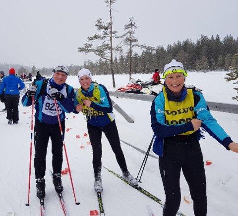 KLAR: Rolf Inge Rasmussen, Beate Kathrine Berge og Vigdis Borkvik har allerede lyst på en nytt år med Vasalopp. Foto: EVRY