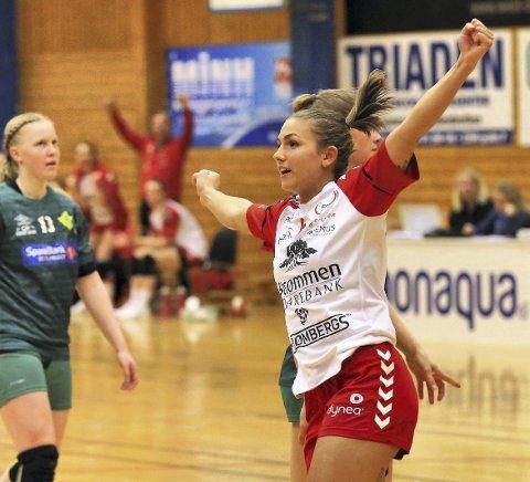 Med videre: Kaja Kristensen forlenget nylig sin kontrakt med Rælingen. Foto: Svein H. Strømberg