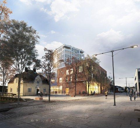 Ferdigstilles i 2020: Det moderne biblioteket vil være på 3.000 m². ILLUSTRASJON: lpo-arkitekter