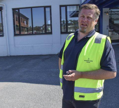 Har søkt statlig støtte: Havnesjef Karl Oskar Jørgensen har søkt Enova om støtte til landstrøm. Foto: Morten F. Solberg