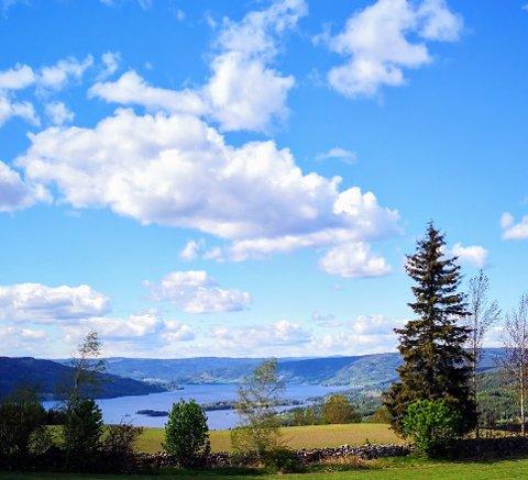 UTSIKT: Flott utsikt fra Bleiken