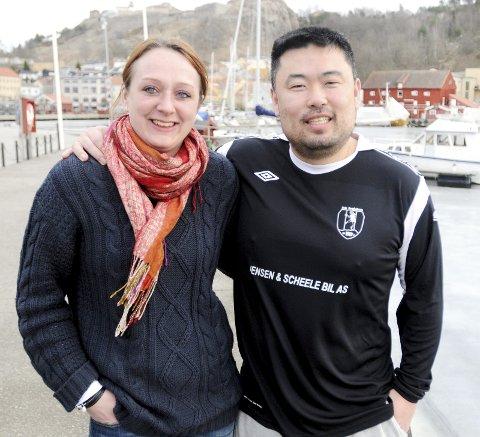 DRØMMELAG: Hanne Frandsen Holmen, kanskje tidenes beste spiller i nå nedlagte HK Halden, har tatt ut sitt drømmelag. Trener er ektemannen Morten.