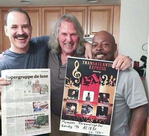 IVRIGE INDRE-LESERE: Nicky Orta (t.v.) og Bill Scott gleder seg til å spille for Tom Frogner på Moe søndag. FOTO: PRIVAT