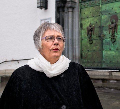 På tide: Solveig Fiske beklager at kirka ikke har kommet dit at homofile og lesbiske kan komme til kirken og gifte seg.                        Arkivbilde