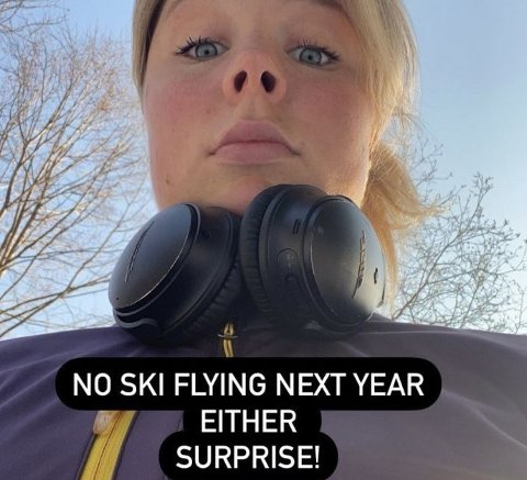 SKUFFET: Maren Lundby legger ikke skjul på at hun er skuffet over avgjørelsen. Hun la ut dette på sin egen Instagram-konto.
