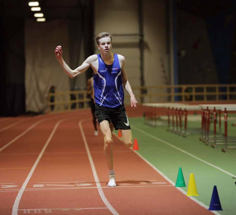 Rekordrask: Håvard Bentdal Ingvaldsen suste inn til tiden 48.09 på 400 meter lørdag. Nå er han klar for EM.