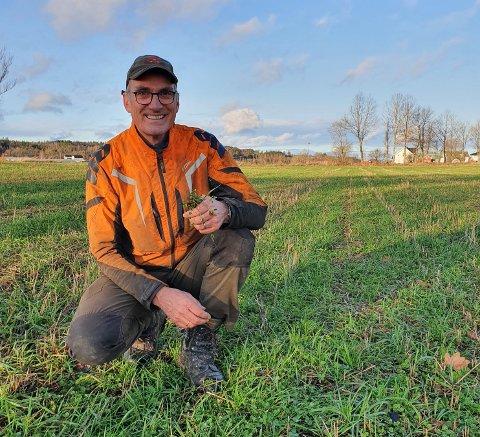 BEKYMRET: Harald Moskvil (MDG) mener bønder i Vestfold vil merke konsekvensene av klimaendringene på kroppen.