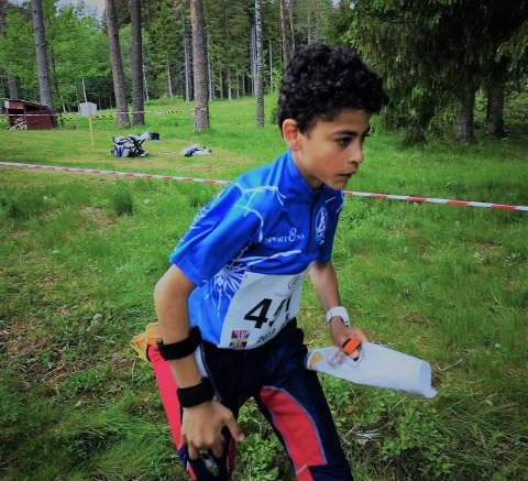 Løp fort: Julian Fontes Aarbu løp inn til en flott fjerdeplass under Unionmatchen i Åmål.