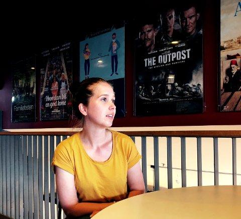 TØFFE TIDER: Jenny Hvam er kinosjef på Kilden kino.
