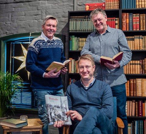Nærmere Amundsen: Disse tre byr på en litterær søndag i Gamlebyen. Fra venstre: Jan Ove Ekeberg, Gaute Jacobsen og Wiggo Andersen.