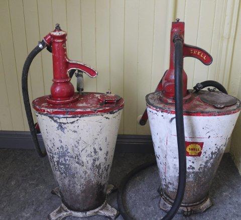 I Mosjøen: Dette er en del av inventaret på den gamle Shell-stasjonen.