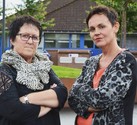 Svanhild Bauge Guddal (t.v.) og Kari Natvik Røstbø er begge verjer for psykisk utviklingshemma i nær familie. Dei kjempar ein kamp for å få retten til  støttekontakt tilbake.