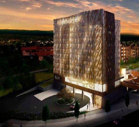 HOTELL: Det er søkt om endringer på utomhusplanen for det nye hotellet på Sildetomta.