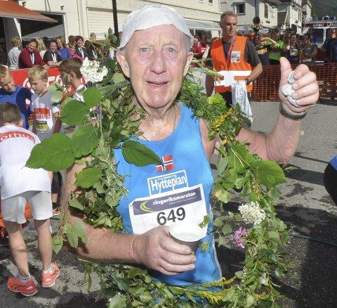 Nummer 81 i boks: Arne Dahlen med en fantastisk merittliste i maratonløp. I fjor passerte han 81 helmaraton.