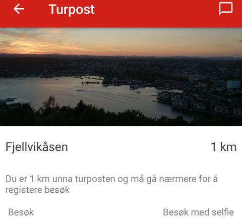 TUR-APP: Nå kan du laste opp en gratis app fra DNT, og få turtips der du bor. Skjermdump fra appen