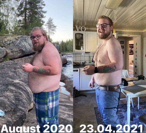 FØR OG ETTER: Torodd er blitt en ny mann.