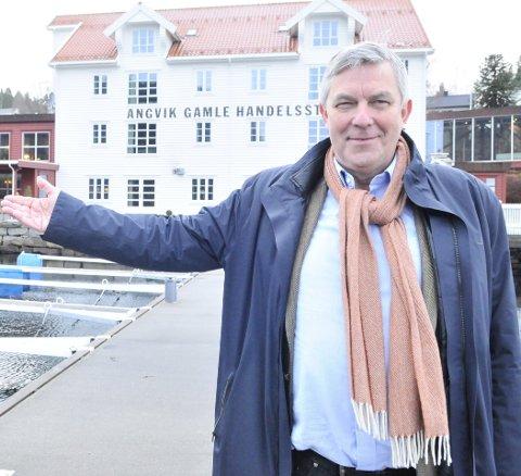 FORMUETOPP: Stig O. Jacobsen har all grunn til å være stolt av hotellet i Angvika, og sier gjerne «stig på» til sine gjester når han samtidig guider dem gjennom bygda og familiens historie. Han har en formue på 91,8 millioner i 2019. Opp fra 77 millioner kroner i 2018.