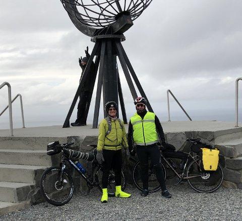 Sykkelturen starta helt ute på Nordkapp