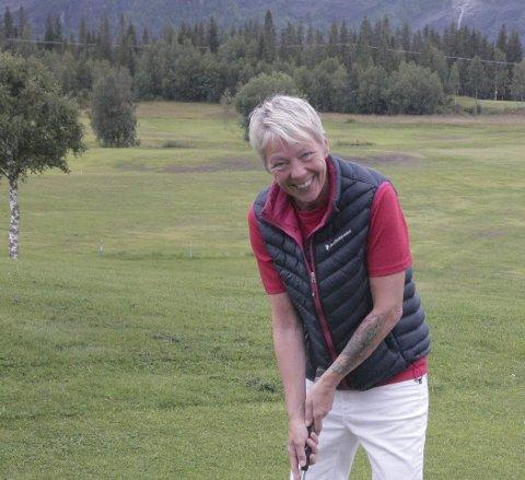 Gry Eriksen. Polarsirkelen Golfklubb. Arkivfoto.