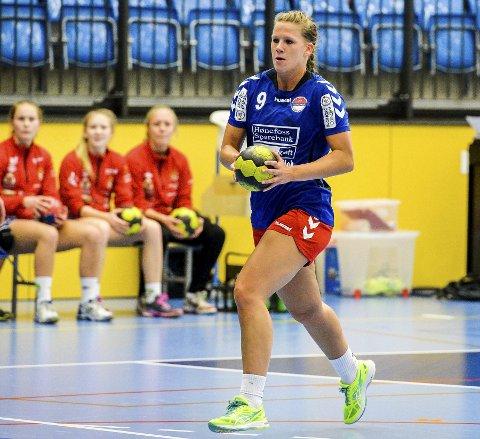 Toppscorer: Madeleine Brørby Fivelsdal ble HSKs toppscorer med sine åtte mål. Men det kunne likevel ikke forhindre at det til slutt ble et 27-29-tap borte mot Junkeren.
