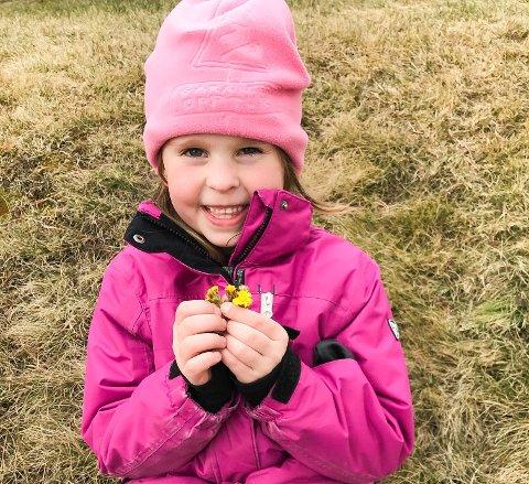 Ingrid Marie Ellingsen (6) fant hestehov på Tyristrand.