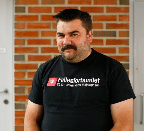 HEKTISK: Det er hektiske dager for Stein Tore Andersen. En rekke av medlemmene i avdeling 851 er permitterte.