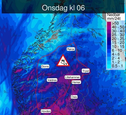 Værmeldingen varsler at det kan komme 20-30 cm. snø, kanskje mer i enkelte områder.