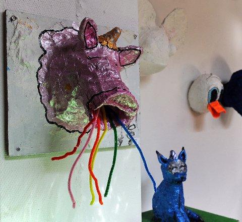 Fra kunstutstilling i Galleri Elgen.