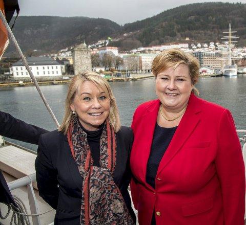 Det har ikke tjent Bergen og Kode å ha Monica Mæland og Erna Solberg i sentrale posisjoner i regjeringen. Arkivfoto: Eirik Hagesæter