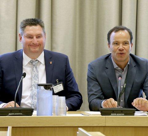 VERT: Rune Edvardsen inviterer fylkesrådslederne i Cecilie Myrseth og Tomas Norvoll til møte om Nord-Norges framtid etter at de to fylkesrådslederne har havnet i et voldsomt munnhoggeri om fylkesgrensa.