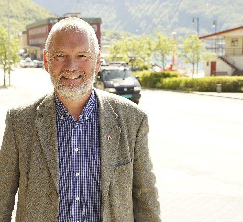 MILJØ: – Det er avgjørende viktig at Nordland fylkeskommune prioriterer hele Narvik-pakken. Ikke bare en tunnel, men også hvordan et nytt sentrum skal se ut, sier varaordfører Geir-Ketil Hansen. Foto: Fritz Hansen