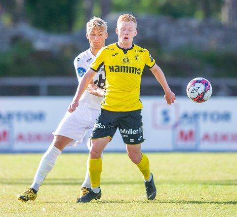 HAT-TRICK: Kristoffer Nessø scoret tre ganger mandag kveld.