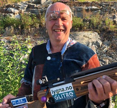 GLEDER SEG: Finn Nordli fra Tingelstad skytterlag er klar for Landsskytterstevnet i Evje.