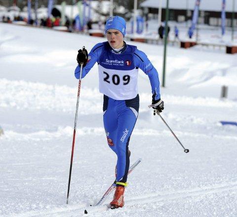 FØRSTE: Trym Henriksbø Gjerstad gikk sin første NM-distanse.