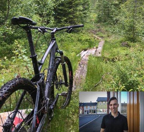 FRASTJÅLET SYKKEL: Lars Johan Zahl Eriksson er blitt frastjålet sykkelen på bildet.