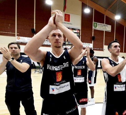 TILBAKE I MINERS: Nikolas Skouen er tilbake i Kongsberg Miners etter å ha spilt for danske Bakken Bears. FOTO: OLE JOHN HOSTVEDT