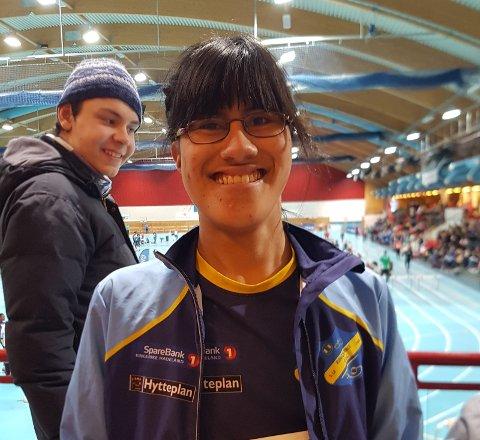 Ane Marcela Geldbach deltok på 60 m i klassen for funksjonshemmede