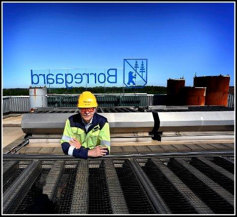 Solid: Administrerende direktør Per A. Sørlie styrer Borregaard-skuta med stø hånd med solide kvartalstall. med unntak av fjerde kvartal i år hvor selskapet får en negativ effektiv av en vannlekkasje i Sarpsborg.