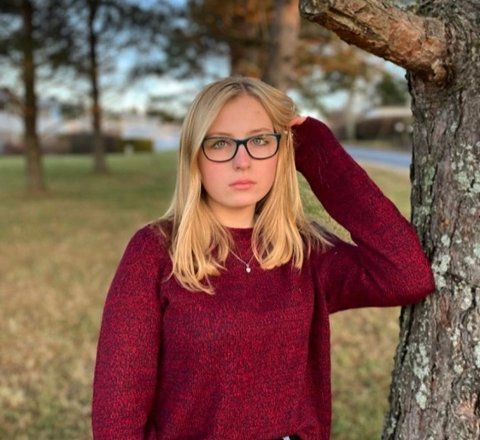 SNAPPER OFTE: Inger-Matilda Bekkelud tror ikke hun vil bruke Snapchat på samme måte som voksen.