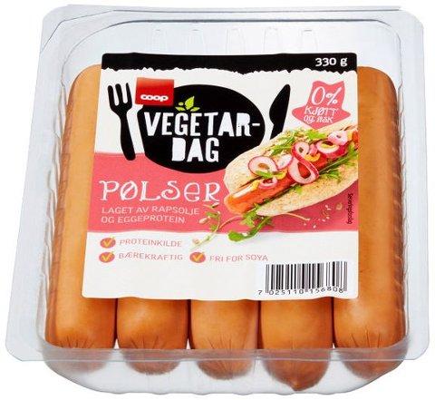På grunn av mangelfull allergenmerking trekker Coop tilbake Coop Vegetardag pølser laget av rapsolje og eggeprotein.