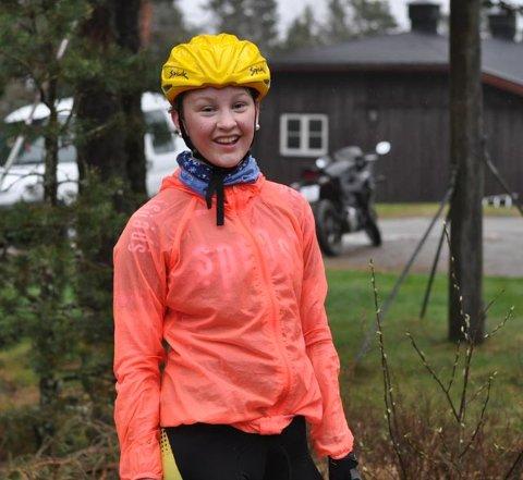 BESTE JENTE: Karin Selma Larsen syklet raskest av jentene.
