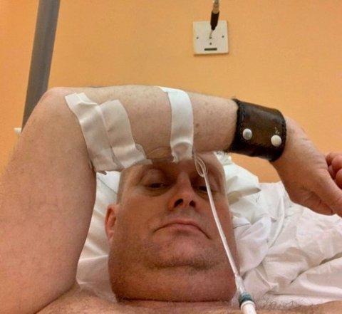 – MARERITT: Ole Petter Doc Grønlien sier han aldri har opplevd lignende smerter.