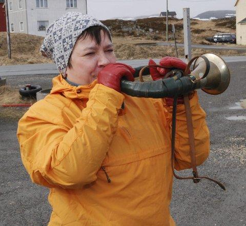 SJEFSVEKKER: Med et gjallende horn ledet Ragnhild Vassvik an morgenbråket.