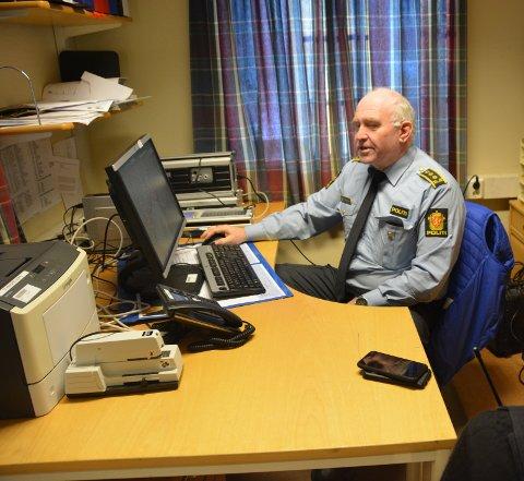 Prioritert: Politistasjonssjef Øystein Skottmyr forteller at en gruppe på fem personer kun jobber med etterforskning av den savnede Tommy-Andre Lofthaug.