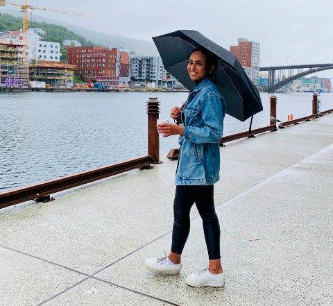 Miriam Lund Korsvold har det fint i Bergen.