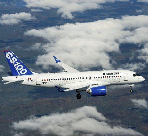 Jetfly: Widerøe har i styremøte nylig besluttet å investere i nye jetfly, men man avventer nå pilot- og kabinforeningene. Hva slags type man velger er ikke klart enda. Her Bombardier C-serie, et av alternativene.